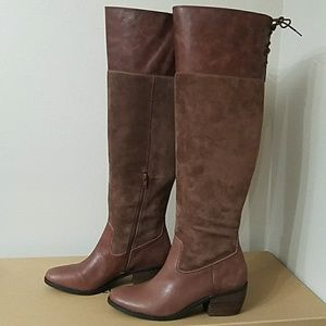 25ba0d60b21 Lucky Brand Shoes - Lucky Brand Komah Tall Brown Leather Boots
